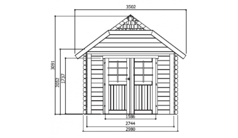 Abri de Jardin Cottage Cork 8.88 m2 / 28 mm