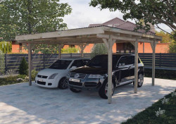 CARPORT BOIS DOUBLE 25 m2 / 2 places / 616