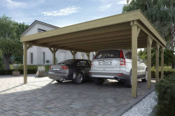CARPORT BOIS DOUBLE 37 m2 / 2 places / 609 T1