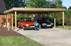 CARPORT BOIS DOUBLE 49 m2 / 2 places / 609 T2