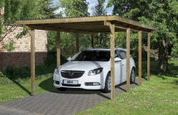 CARPORT BOIS SIMPLE 18 m2 / 1 place / 606 T2