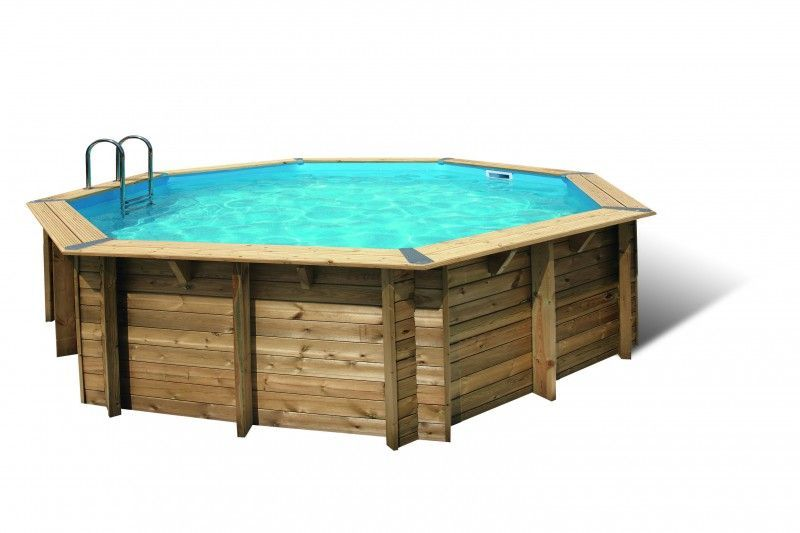 piscine en bois oc a diam 5 8 m h m liner beige abris de jardin. Black Bedroom Furniture Sets. Home Design Ideas