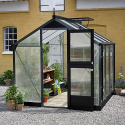 Serre de jardin JULIANA compact anthracite 5 m² + polycarbonate 10 mm