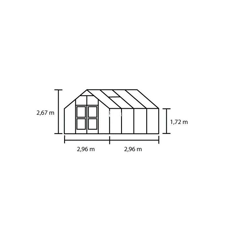Serre de jardin JULIANA Premium anthracite 8,8 m² + polycarbonate 10 mm